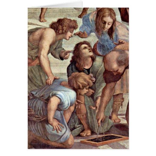 Euclid (Bramante) et étudiants par Raffael Cartes De Vœux