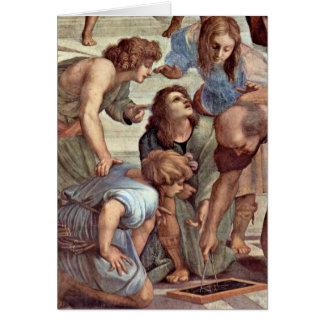 Euclid (Bramante) et étudiants par Raffael Carte De Vœux