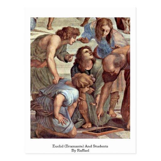 Euclid (Bramante) et étudiants par Raffael Cartes Postales