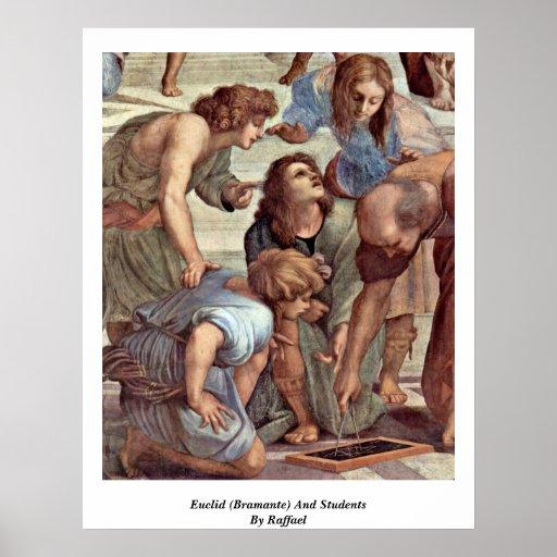 Euclid (Bramante) et étudiants par Raffael Affiche
