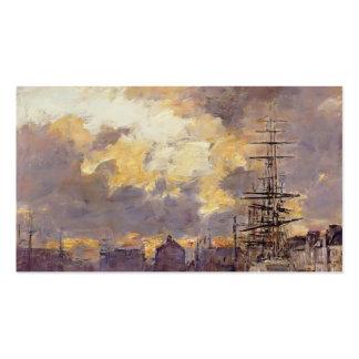 Eugene Boudin- le Havre. Bassin de commerce Modèle De Carte De Visite