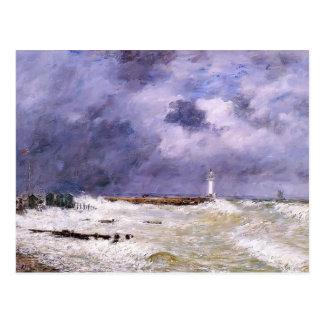 Eugene Boudin- le Havre. Lourd enroule Frascati. Carte Postale