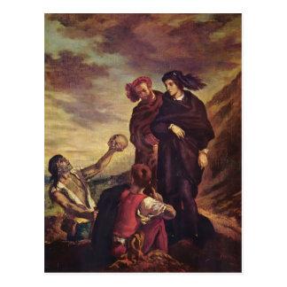 Eugene Delacroix- Hamlet et Horatio dans le Carte Postale