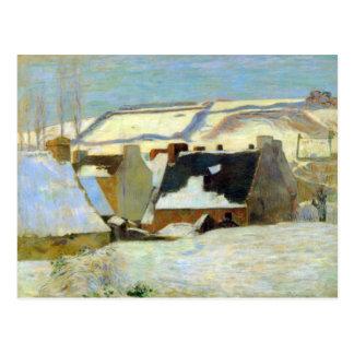 Eugène Henri Paul Gauguin - village breton dans la Carte Postale