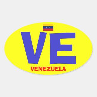 Euro autocollant d'ovale de style du Venezuela VE