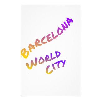 Europa Espagne de couleur d'art de lettre de ville Papier À Lettre Personnalisé