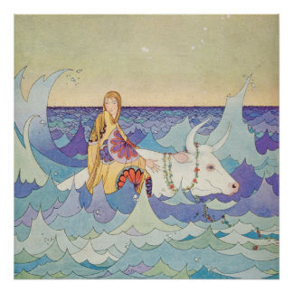 Europa et Taureau par la Virginie Frances Sterrett Posters