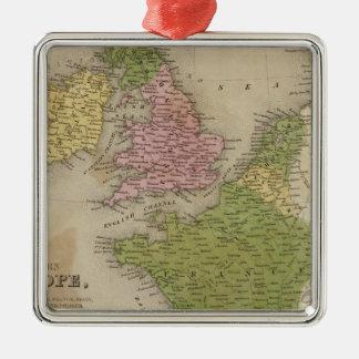 Europe occidentale ornement carré argenté