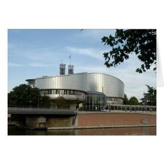 Européen de justice Cour carte postale de
