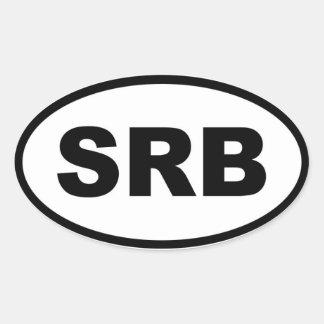 Européen de la Serbie BSR Sticker Ovale