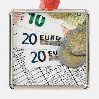 Euros Ornement Carré Argenté