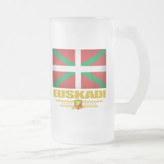 Euskadi (pays Basque) Frosted Glass Beer Mug