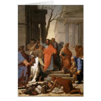 Eustache Le Sueur-Prêcher de St Paul chez Ephesus Carte De Vœux