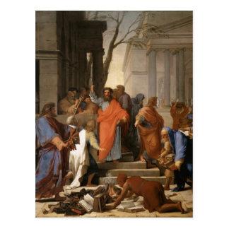 Eustache Le Sueur-Prêcher de St Paul chez Ephesus Carte Postale