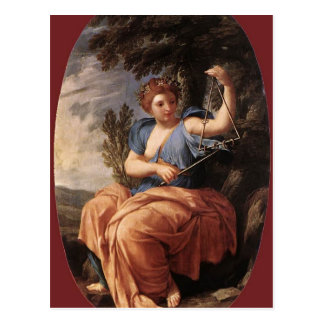 Eustache Le Sueur- The Muse Terpsichore Cartes Postales