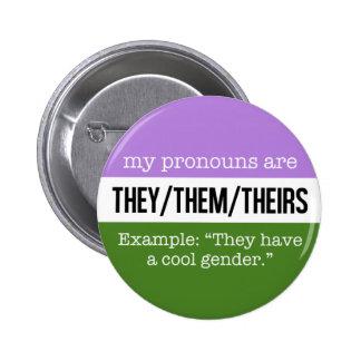 Eux/eux pronoms - drapeau de Genderqueer Badges