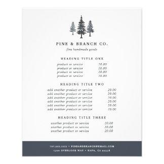 Évaluation et services de forêt d'hiver prospectus 11,4 cm x 14,2 cm