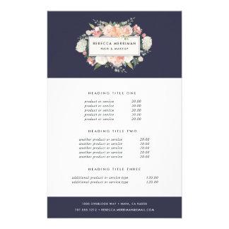 Évaluation et services floraux antiques prospectus 14 cm x 21,6 cm