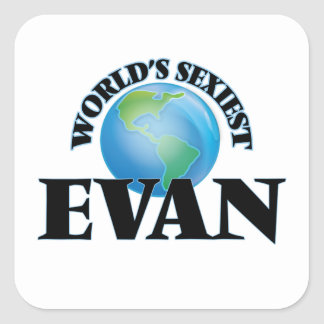 Evan le plus sexy du monde sticker carré