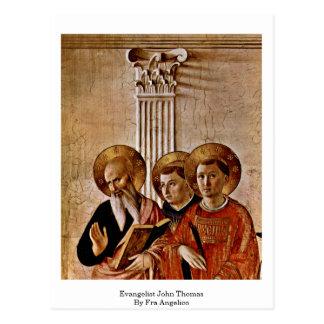 Évangéliste John Thomas par ATF Angelico Carte Postale