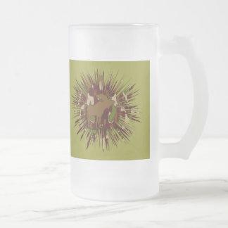 Évasion Camo d'orignaux de camouflage Mug En Verre Givré