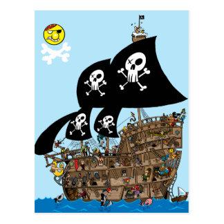Évasion de bateau de pirate cartes postales