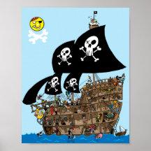Évasion de bateau de pirate posters