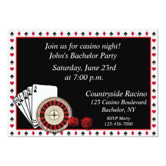 Événement de casino carton d'invitation  12,7 cm x 17,78 cm