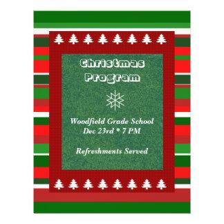 Événement personnalisable : Programme de Noël Prospectus 21,6 Cm X 24,94 Cm