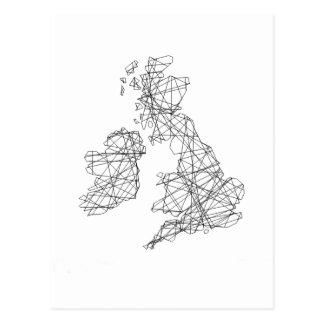 Évènements mémorables d'îles britanniques - dessin cartes postales