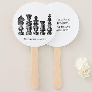 Éventail Art de cru de pièces d'échecs