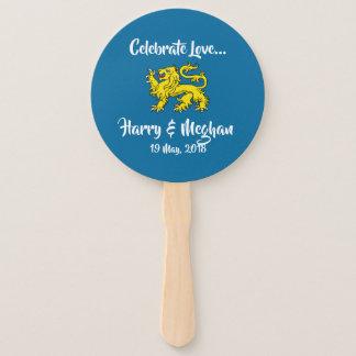 Éventail Célébrez la fan royale de main de Harry et de