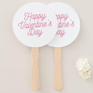 Éventail Fan rose de main de la heureuse Sainte-Valentin |