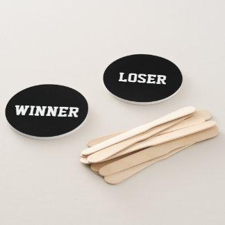 Éventail Juges d'audition de typographie de perdant de