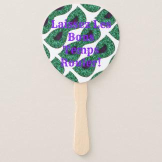 Éventail Le vert masque des Temps Rouler de fèves de