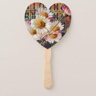 Éventail L'heure-milliampère Jongg fleurit la fan de main