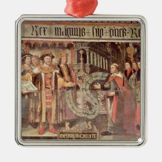Évêque Robert Sherburne avec Henry VIII Ornement Carré Argenté