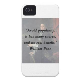 Évitez la popularité - William Penn Coques Case-Mate iPhone 4