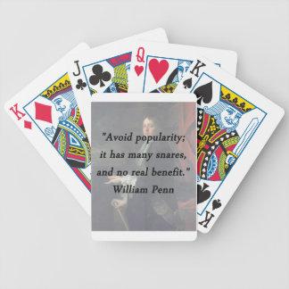 Évitez la popularité - William Penn Jeu De Cartes
