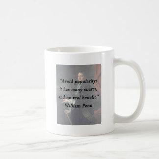 Évitez la popularité - William Penn Mug