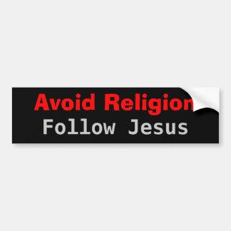 Évitez la religion suivent Jésus Autocollant Pour Voiture