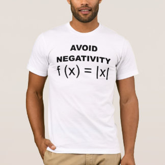 Évitez le T-shirt drôle de négativité