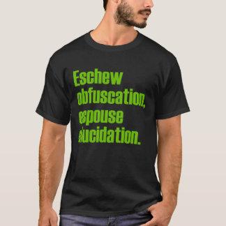Évitez le T-shirt noir adulte d'obscurcissement