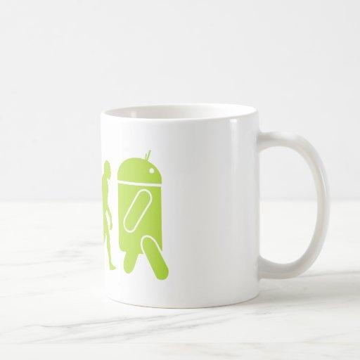 Évolution androïde tasses