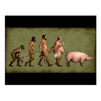 Évolution changée carte postale