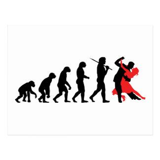 Évolution - danse carte postale