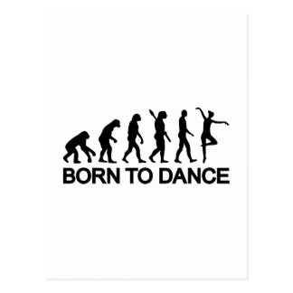 Évolution de ballerine de ballet carte postale
