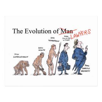 Évolution de carte postale de l'homme