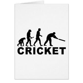 Évolution de cricket cartes