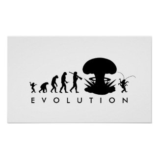 Évolution de diagramme drôle d'évolution de posters